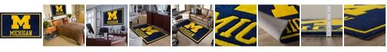 "Luxury Sports Rugs Michigan Colmi Blue 1'8"" x 2'6"" Area Rug"