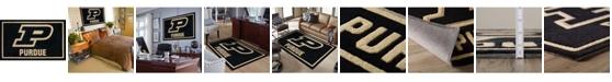 "Luxury Sports Rugs Purdue Colpu Black 5' x 7'6"" Area Rug"