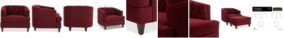 "Macy's Austian 44"" Fabric Chair, Created for Macy's"
