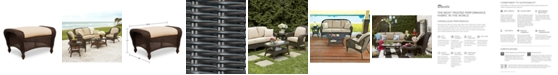 Furniture Monterey Wicker Outdoor Ottoman with Sunbrella® Cushion, Created for Macy's