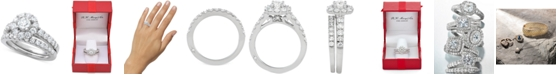 Macy's Marchesa Certified Diamond Bridal Set (2 ct. t.w.) in 18k Gold, White Gold or Rose Gold, Created for Macy's