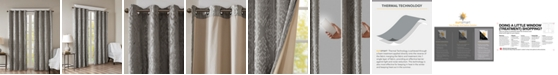 "SunSmart Mirage 50"" x 95"" Knit Damask Total Blackout Window Panel"
