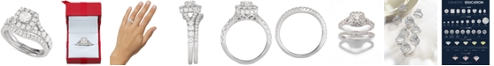Macy's Diamond Halo Bridal Set (2 ct. t.w.)