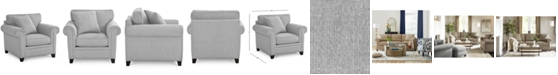 """Furniture Banhart 41"""" Fabric Arm Chair, Created for Macy's"""