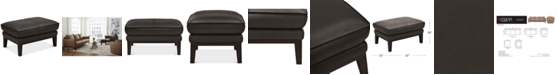 """Furniture Chanute 32"""" Leather Ottoman, Created for Macy's"""