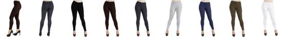 24seven Comfort Apparel Women Stretch Ankle Length Leggings