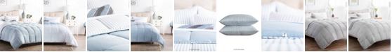 Brookside Striped Reversible Chambray Comforter Set, California King