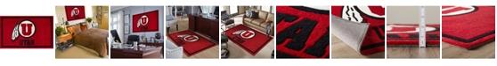 "Luxury Sports Rugs Utah Colut Red 3'2"" x 5'1"" Area Rug"