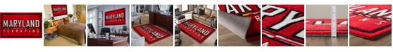 """Luxury Sports Rugs Maryland Colmd Red 3'2"""" x 5'1"""" Area Rug"""