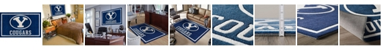 """Luxury Sports Rugs Brigham Young Colby Blue 3'2"""" x 5'1"""" Area Rug"""