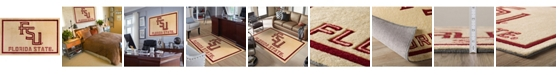 """Luxury Sports Rugs Florida State Colfs Gold 5' x 7'6"""" Area Rug"""