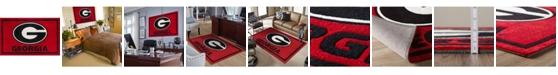 "Luxury Sports Rugs Georgia Colga Red 3'2"" x 5'1"" Area Rug"