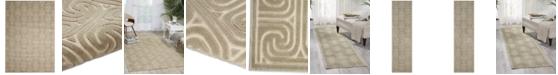 Kelly Ripa Home CLOSEOUT! Interlock KRH20 Light Grey Area Rug, Created for Macy's