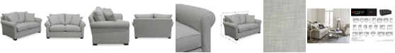 "Furniture Dial II 67"" Fabric Loveseat with 2 Toss Pillows"