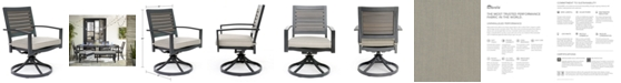 Furniture Marlough II Aluminum Outdoor Swivel Rocker with Sunbrella Cushion, Created for Macy's