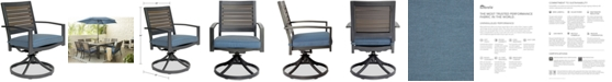 Furniture CLOSEOUT! Harlough II Outdoor  Swivel Rocker with Sunbrella® Cushion, Created for Macy's