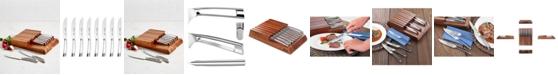 Cangshan N1 Series German Steel 8-Pc. Steak Knife Set & Wood Block