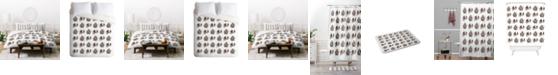 Deny Designs Iveta Abolina Skulls And Roses Queen Duvet Set