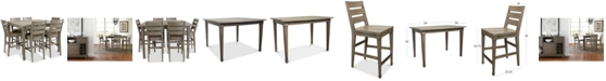 Furniture Vogue Dining Furniture, 7-Pc. Set (Table & 6 Counter Stools)