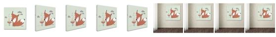 "Trademark Global Sylvie Demers 'Un Renard Dans La Cours' Canvas Art - 24"" x 24"" x 2"""
