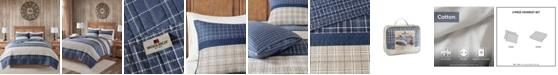 Woolrich Flagship Full/Queen 3 Piece Reversible Cotton Oversized Quilt Mini Set
