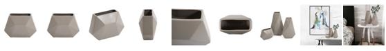 Howard Elliott Geo Matte Stone Ceramic Vase, Small