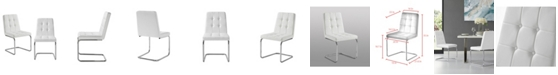 INSPIRED HOME Clyde Upholstered Button Tufted Dining Chair Set of 2