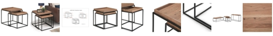 Simpli Home CLOSEOUT! Carter 2Pc Nesting Table