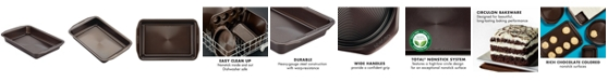 "Circulon Symmetry Nonstick Chocolate Brown 9"" x 13"" Rectangular Cake Pan"