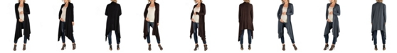 24seven Comfort Apparel Long Sleeve Knee Length Open Maternity Cardigan