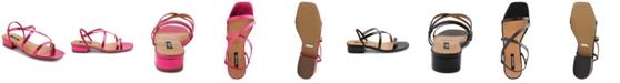 kensie Women's Conley Block Kitten Heel Sandal