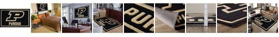 "Luxury Sports Rugs Purdue Colpu Black 1'8"" x 2'6"" Area Rug"