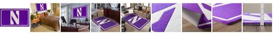 "Luxury Sports Rugs Northwestern Colnw Purple 1'8"" x 2'6"" Area Rug"