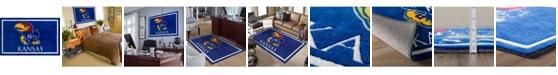 "Luxury Sports Rugs Kansas Colkn Blue 1'8"" x 2'6"" Area Rug"