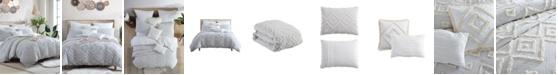 Swift Home Astonishing Rukai Clip Jacquard Gauze 5 Piece Comforter Set, Full/Queen