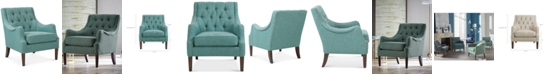 Madison Park Glenis Tufted Accent Chair, Quick Ship
