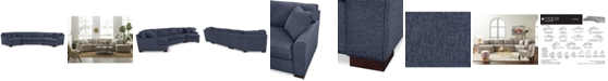 Furniture CLOSEOUT! Carena 3-Pc. Fabric Sectional with Apartment Sofa and Double Cuddler Chaise - Custom Colors, Created for Macy's