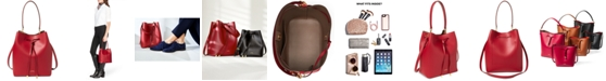 Lauren Ralph Lauren Dryden Debby Leather Drawstring