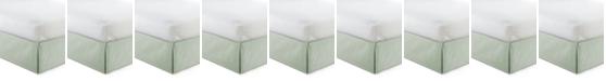 "Colcha Linens Cambric Seafoam Bedskirt 15""-Twin"