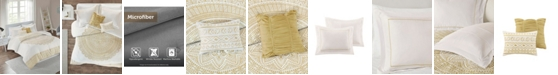 JLA Home Intelligent Design Nomad Twin/Twin XL 4 Piece Metallic Medallion Printed Comforter Set