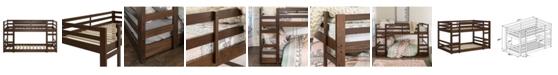 Walker Edison Low Wood Twin Bunk Bed