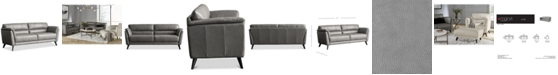 """Furniture CLOSEOUT! Lucais 83"""" Leather Sofa, Created for Macy's"""