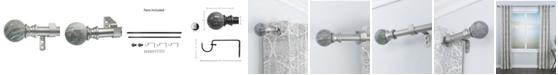 Decopolitan Marble Ball Curtain Rod Set