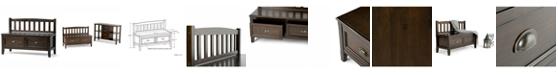Simpli Home Burlington Storage Bench