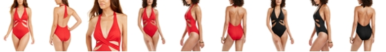 Kenneth Cole Core Power Cutout One-Piece Swimsuit