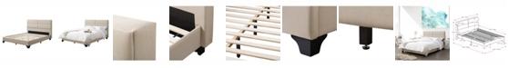 CorLiving Distribution Bellevue Wide-Rectangle Panel Upholstered Bed and Frame, Full