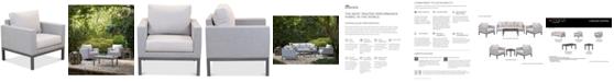 Furniture Carleese Outdoor Club Chair with Sunbrella® Cushions