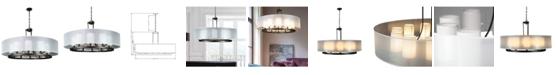 Cenports Canyon Home Modern Drum Chandelier Overhead Light Fixture