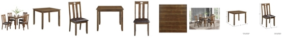 Furniture Homelegance Neunan Dining Room Table and Chairs, Set of 5
