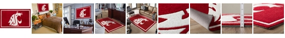 """Luxury Sports Rugs Washington State Colwt Red 5' x 7'6"""" Area Rug"""